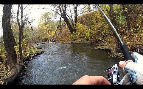 Нифига себе, какие кабаны клюют в этом ручье!! Рвем сети местных! Рыбалка на спиннинг.