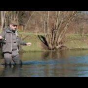 Сухая мушка зимой на речке Рибник, Босния.