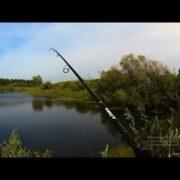 Рыбалка весной на спиннинг на красивом пруду